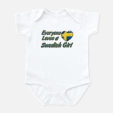 Everyone loves a Swedish girl Infant Bodysuit