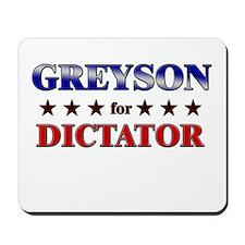 GREYSON for dictator Mousepad