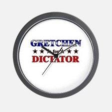 GRETCHEN for dictator Wall Clock
