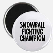"""Snowball Fighting Champion 2.25"""" Magnet (10 pack)"""