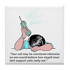Help Desk - Tech Support Tile Coaster