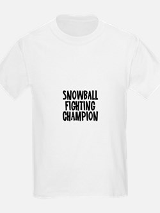 Snowball Fighting Champion T-Shirt