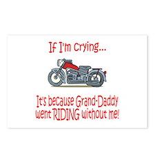 Biker Baby Cry - Grandad Postcards (Package of 8)