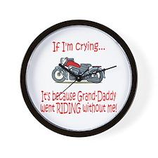 Biker Baby Cry - Grandad Wall Clock