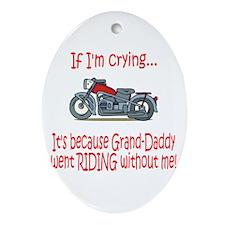 Biker Baby Cry - Grandad Oval Ornament