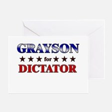 GRAYSON for dictator Greeting Card