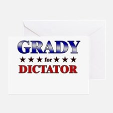 GRADY for dictator Greeting Card