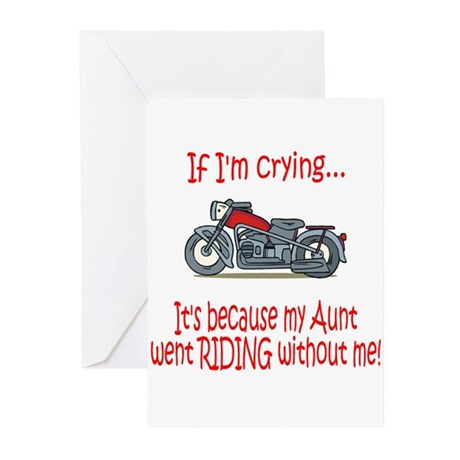 BikerBaby Cry - Aunt Greeting Cards (Pk of 10)