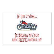 BikerBaby Cry - Uncle Postcards (Package of 8)
