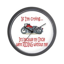 BikerBaby Cry - Uncle Wall Clock