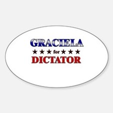 GRACIELA for dictator Oval Decal