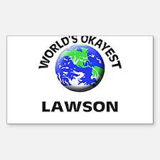 World's Okayest Lawson Decal