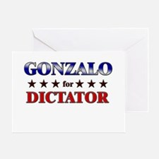 GONZALO for dictator Greeting Card