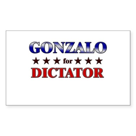 GONZALO for dictator Rectangle Sticker