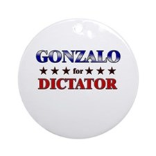GONZALO for dictator Ornament (Round)