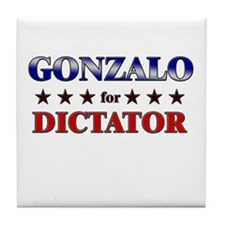 GONZALO for dictator Tile Coaster