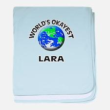 World's Okayest Lara baby blanket