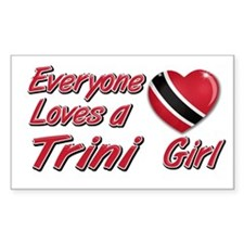 Everyone loves a Trini girl Rectangle Decal
