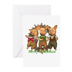 The Three Pigs Christmas Cards (Pk of 10)