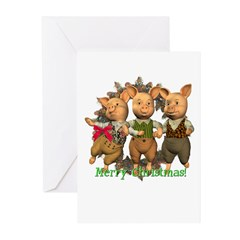 The Three Pigs Christmas Cards (Pk of 10)