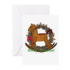 Rocking Horse Christmas Cards (Pk of 10)
