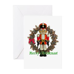 Nutcracker (Red) Christmas Cards (Pk of 10)