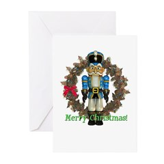 Nutcracker (Blue) Christmas Cards (Pk of 10)