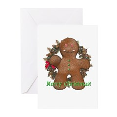 Gingerbread Man Christmas Cards (Pk of 10)