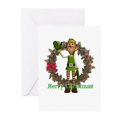 Elf Christmas Cards (Pk of 10)