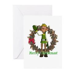 Elf Christmas Cards (Pk of 10)