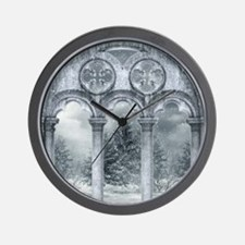 Gothic Winter Vault Wall Clock