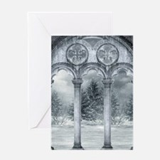 Gothic Winter Vault Greeting Card