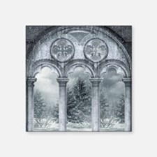 "Gothic Winter Vault Square Sticker 3"" x 3"""