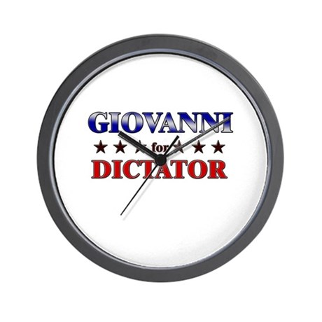GIOVANNI for dictator Wall Clock