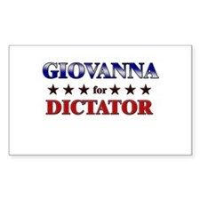 GIOVANNA for dictator Rectangle Decal