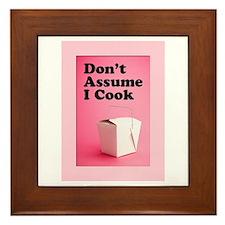 Don't Assume I Cook Framed Tile