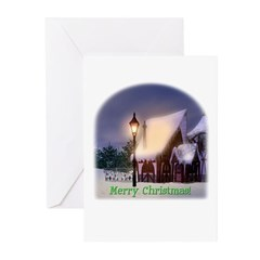 Snowy Cabin Christmas Cards (Pk of 10)