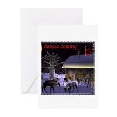 Santa's Coming Christmas Cards (Pk of 10)