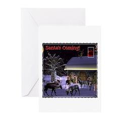 Santa's Coming Christmas Cards (Pk of 10)
