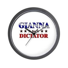 GIANNA for dictator Wall Clock