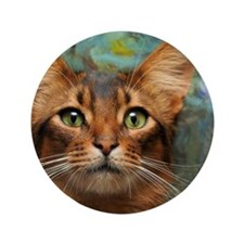 """In your face! Somali cat 3.5"""" Button"""