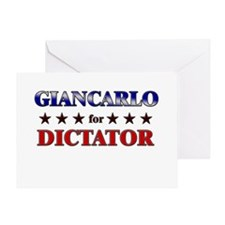 GIANCARLO for dictator Greeting Card