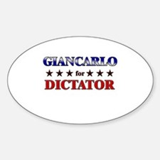 GIANCARLO for dictator Oval Decal