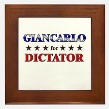 GIANCARLO for dictator Framed Tile