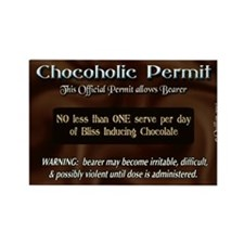 Chocoholic Permit Rectangle Magnet (10 pack)