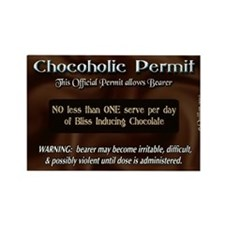 Chocoholic Permit Rectangle Magnet