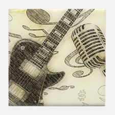 Vintage Guitar Tile Coaster