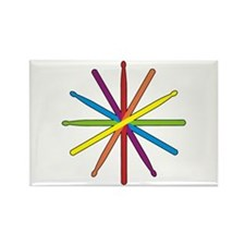 Drumstick Star Rectangle Magnet (10 pack)
