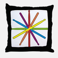 Drumstick Star Throw Pillow