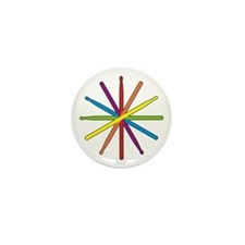 Drumstick Star Mini Button (10 pack)